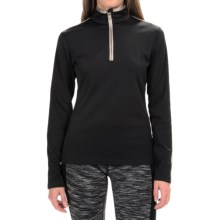 Fera Wynne Pullover Shirt - Zip Neck, Long Sleeve (For Women) in Black - Closeouts