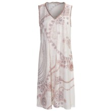 Feraud Paris Cotton-Modal Nightgown - Sleeveless (For Women) in Rose Print - Closeouts