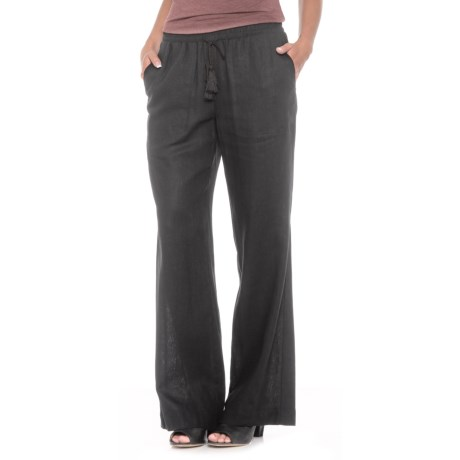 Fever Flare Bottom Pants - Relaxed Fit (For Women) in Black