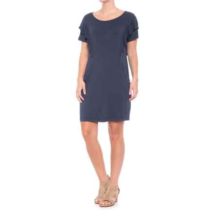 Fever Solid-Color Dress - Short Sleeve (For Women) in Dress Blue - Closeouts
