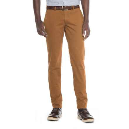FHP by Hiltl Teach Flat-Front Chino Pants - Slim Fit (For Men) in British Khaki - Closeouts