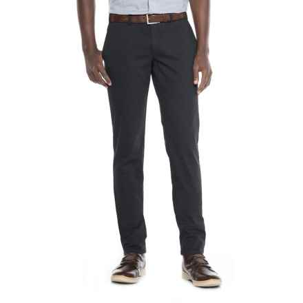FHP by Hiltl Teach Flat-Front Chino Pants - Slim Fit (For Men) in Navy - Closeouts