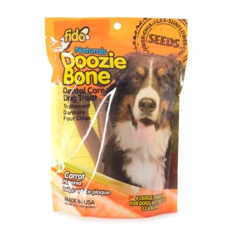 Fido Doozie Bone Carrot Dental Chew - Large, 4-Pack in Multi
