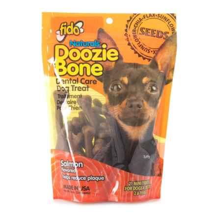 Fido Doozie Bone Salmon Dental Chew - Mini, 21-Pack in Multi - Closeouts