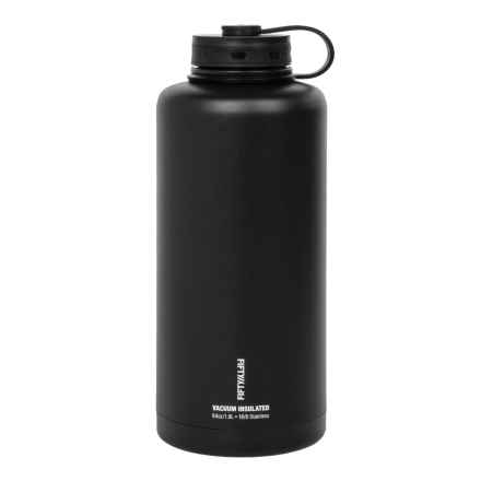 Fifty Fifty Double-Wall Vacuum-Insulated Growler - 64 fl.oz. in Black - Closeouts