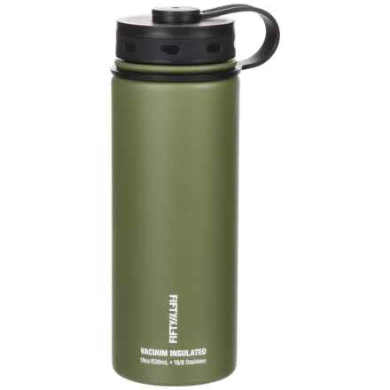Fifty/Fifty Vacuum Insulated Bottle - 18 fl.oz., BPA-Free in Olive - Closeouts