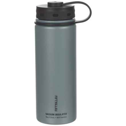 Fifty/Fifty Vacuum Insulated Bottle - 18 fl.oz., BPA-Free in Slate - Closeouts