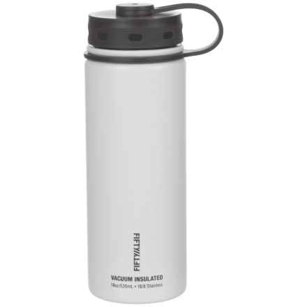 Fifty/Fifty Vacuum Insulated Bottle - 18 fl.oz., BPA-Free in White - Closeouts