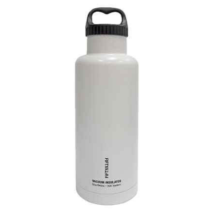 Fifty/Fifty Vacuum Insulated Bottle - 32 fl.oz., BPA-Free in White - Closeouts