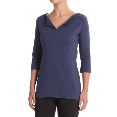 FIG Clothing Clothing Concepcion Shirt - UPF 50, Boat Neck, 3/4 Sleeve (For Women) in Dynasty
