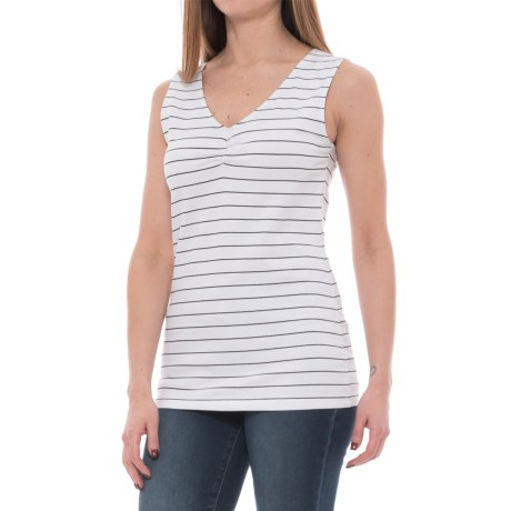 FIG Clothing INN Shirt - UPF 50, Sleeveless (For Women) in White
