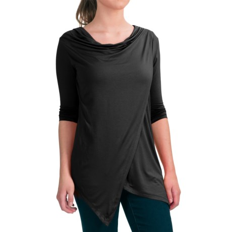 Fig Pai Shirt - UPF 25, Long Sleeve (For Women) in Deep Black