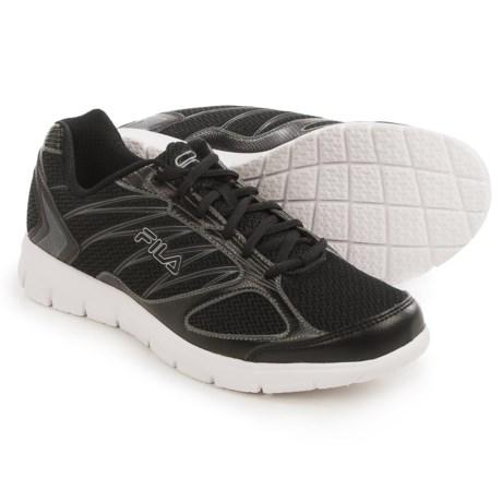 Fila 3A Capacity Running Shoes (For Men) in Black/Black/Dark Silver