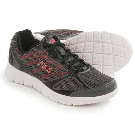 Fila 3A Capacity Running Shoes (For Men) in Dark Silver/Black/Red - Closeouts