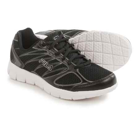 Fila 3A Capacity Running Shoes (For Women) in Black/Black/Dark Silver - Closeouts