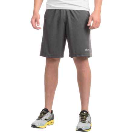 Fila Apex Shorts (For Men) in Black Heathergrey Heather/Grey Heather - Closeouts