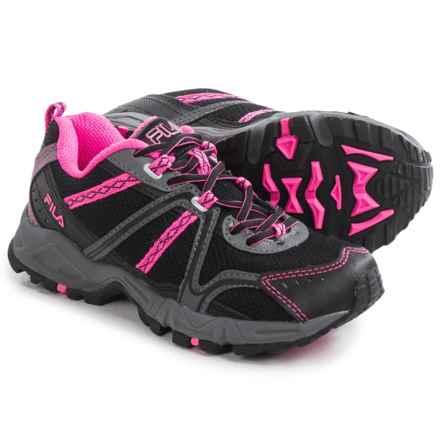 Fila Ascent 12 Trail Running Shoes (For Women) in Black/Sugarplum/Castlerock - Closeouts