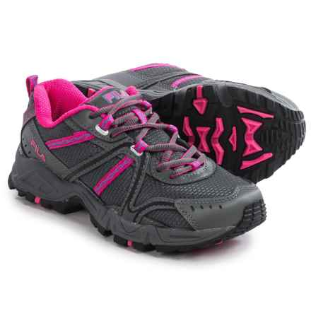 Fila Ascent 12 Trail Running Shoes (For Women) in Castlerock/Pink Glow/Electric Blue - Closeouts