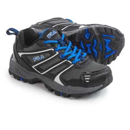 Fila Ascent 18 Trail Running Shoes (For Little and Big Kids) in Black/Blue - Closeouts
