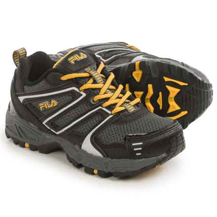 Fila Ascent 18 Trail Running Shoes (For Little and Big Kids) in Castlerock/Black/Grey Fusion - Closeouts