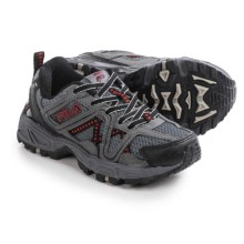 Fila Ascente 15 Hiking Shoes (For Little and Big Boys) in Castlerock/Pewter/Fila Red - Closeouts
