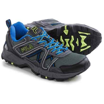 Fila Ascente 15 Trail Running Shoes (For Men) in Black/Castlerock/Prince Blue - Closeouts