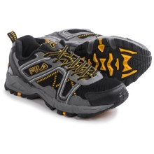 Fila Ascente 15 Trail Running Shoes (For Men) in Black/Pewter/Gold Fusion - Closeouts