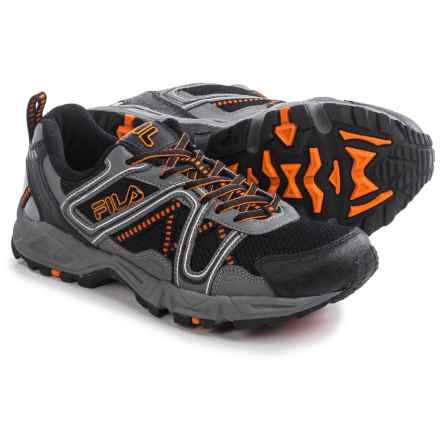 Fila Ascente 15 Trail Running Shoes (For Men) in Black/Pewter/Vibrant Orange - Closeouts