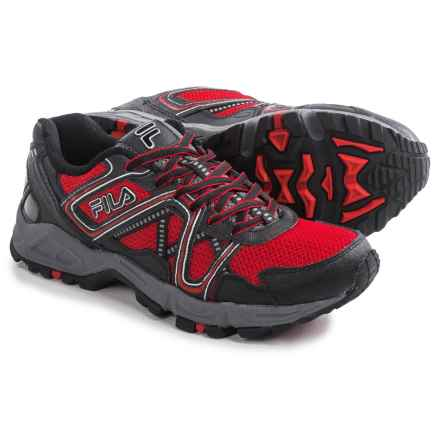 Fila Ascente 15 Trail Running Shoes (For Men) in Fred/Black/Castlerock - Closeouts