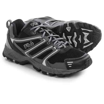 Fila Ascente 8 Trail Running Shoes (For Men) in Black/Castlerock/Metallic Silver - Closeouts