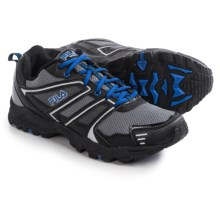 Fila Ascente 8 Trail Running Shoes (For Men) in Castlerock/Black/Prince Blue - Closeouts