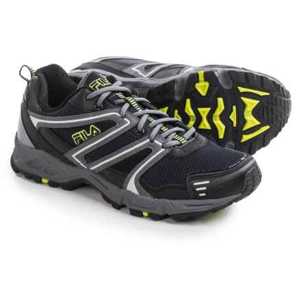 Fila Ascente 8 Trail Running Shoes (For Men) in Fila Navy/Castlerock/Saftey - Closeouts
