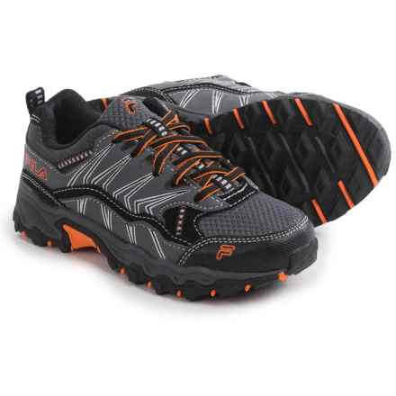 Fila At Peake 16 Hiking Shoes (For Little and Big Boys) in Castlerock/Black/Vibrant Orange - Closeouts