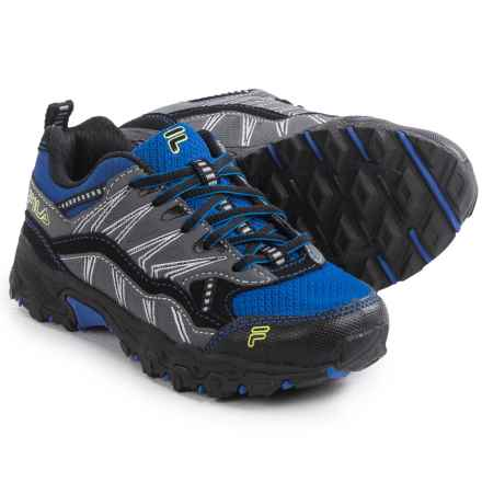 Fila At Peake 16 Trail Running Shoes (For Little and Big Boys) in Prince Blue/Castlerock/Black - Closeouts
