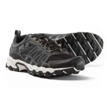 Fila At Peake 18 Trail Running Shoes (For Men) in Black/Castlerock/Metallic Silver - Closeouts