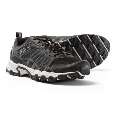 Fila At Peake 18 Trail Running Shoes (For Men) in Black/Castlerock/Metallic Silver