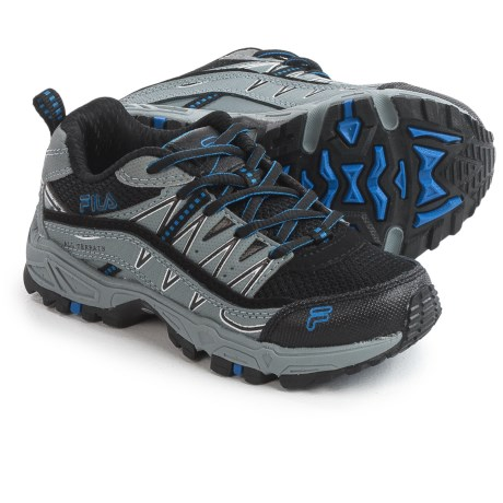 Fila At Peake Trail Running Shoes (For Little and Big Kids) in Black/Monument/Prince Blue