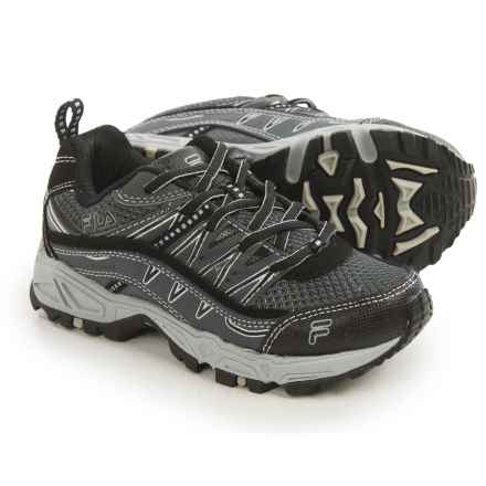 Fila At Peake Trail Running Shoes (For Little and Big Kids) in Castlerock/Hirise/Black - Closeouts