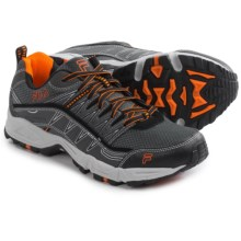 Fila At Peake Trail Running Shoes (For Men) in Castlerock/Black/Vibrant Orange - Closeouts