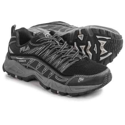 Fila At Peake Trail Running Shoes (For Women) in Black/Black/Metallic Silver - Closeouts