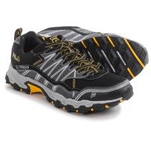 Fila At Tractile Trail Running Shoes (For Men) in Black/Castlerock/Gold Fusion - Closeouts
