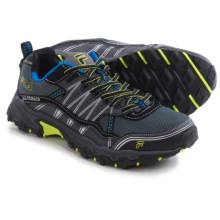 Fila At Tractile Trail Running Shoes (For Men) in Castlerock/Black/Lime Punch - Closeouts
