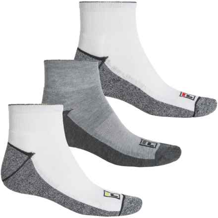 Fila Blocked-Sole Socks - 3-Pack, Quarter Crew (For Men) in White - Overstock