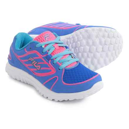 Fila Boomers Sneakers - Round Toe (For Little and Big Kids) in Marnia/Knockout Pink/Blue Fish - Closeouts