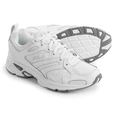 Fila Capture Walking Shoes (For Women) in White/White/Metallic Silver - Closeouts
