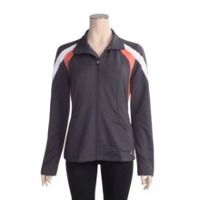 Fila Center Court Jacket - Stretch (For Women) in Ebony/White/Hot Coral - Closeouts