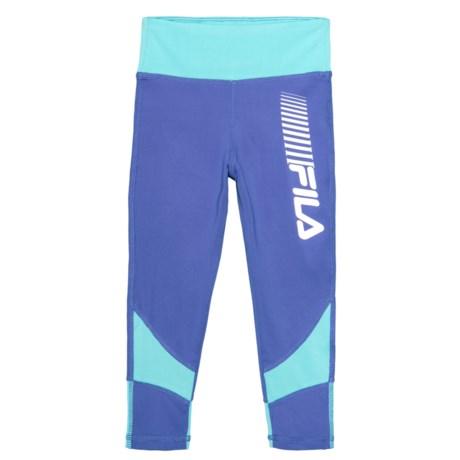 Fila Color-Block High-Performance Leggings (For Big Girls) in Baja Blue