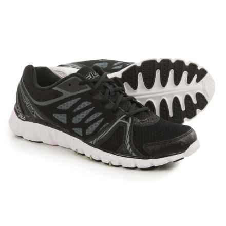 Fila CoolMax® Memory Sendoff Cross-Training Shoes (For Men) in Black/Black/Metallic Silver - Closeouts