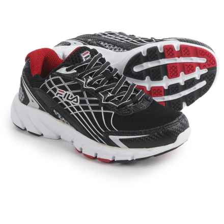 Fila Core Callibration 2 Running Shoes (For Little and Big Kids) in Black/Dark Silver/Fila Red - Closeouts