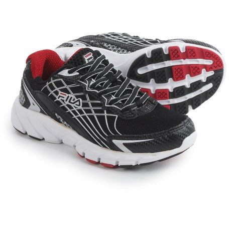 Fila Core Callibration 2 Running Shoes (For Little and Big Kids) in Black/Dark Silver/Fila Red
